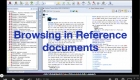 Browsing in Reference documents