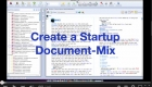 Create a Startup Document-Mix