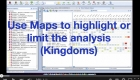 Use Maps to highlight or limit the analysis (Kingdoms)